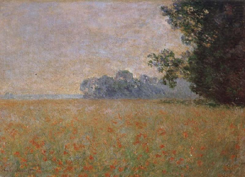 Oat and Poppy Field, Claude Monet
